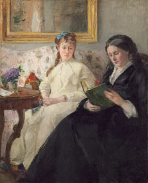 "Berthe Morisot, ""La lecture [Mutter und Schwester der Künstlerin], 1869/70, Öl auf Leinwand, 101 x 81.8 cm (National Gallery of Art, Washington, Chester Dale Collection)"