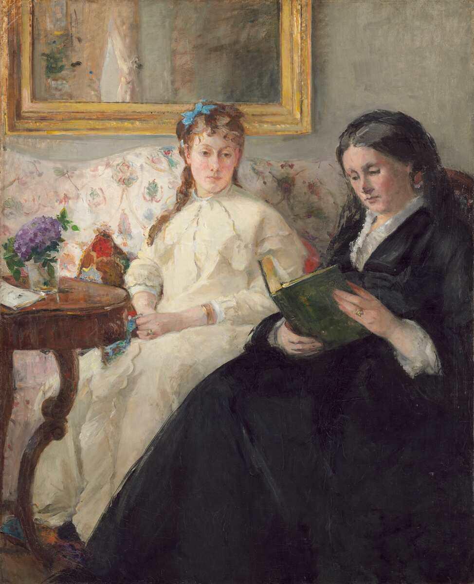 """Berthe MOrisot, """"La lecture [Mutter und Schwester der Künstlerin], 1869/70, Öl auf Leinwand, 101 x 81.8 cm (National Gallery of Art, Washington, Chester Dale Collection)"""