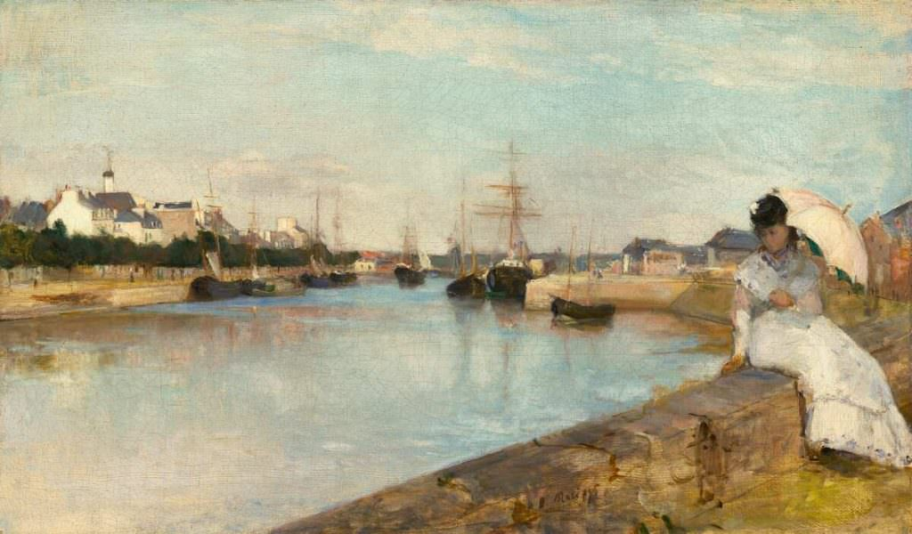 Berthe Morisot, Marine [Der Hafen von Lorient], 1869, Öl auf Leinwand, 43.5 x 73 cm (National Gallery of Art, Washington, Ailsa Mellon Bruce Collection)