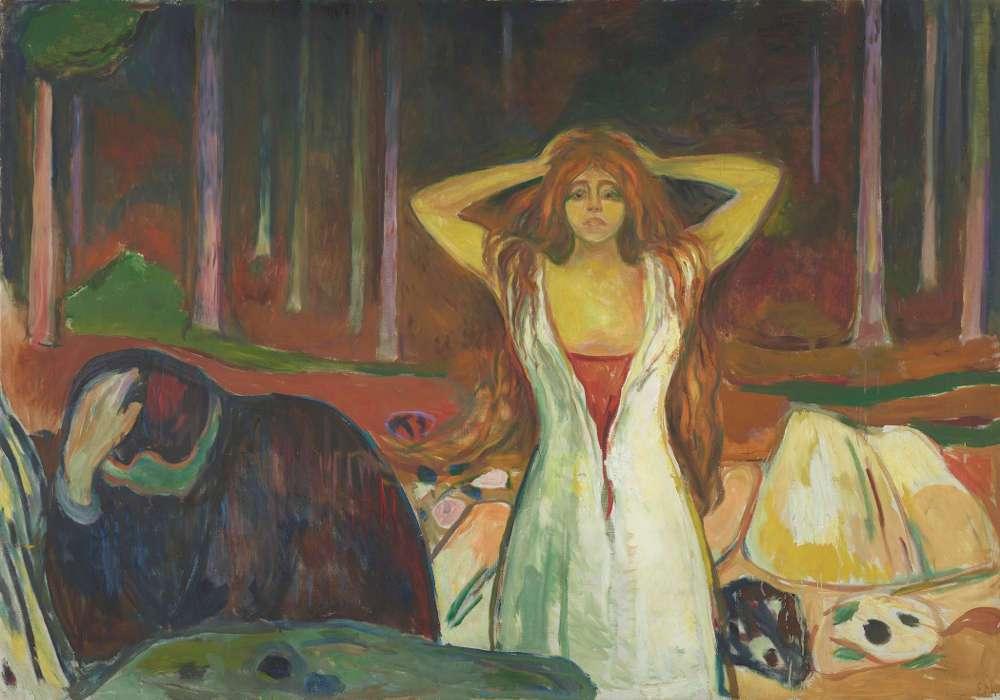 Edvard Munch, Asche, 1925, Öl auf Leinwand, 139,5 × 200 cm (Foto: courtesy Munch Museum, Oslo)