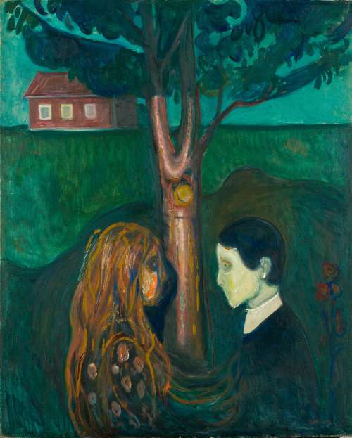 Edvard Munch, Auge in Auge, 1899–1900, Öl auf Leinwand, 136 × 110 cm (Foto: courtesy Munch Museum, Oslo)