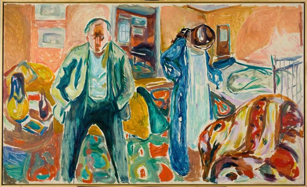 Edvard Munch, Der Künstler und sein Modell, 1919–1921, Öl auf Leinwand, 120,5 × 200 cm (Foto: courtesy Munch Museum, Oslo)
