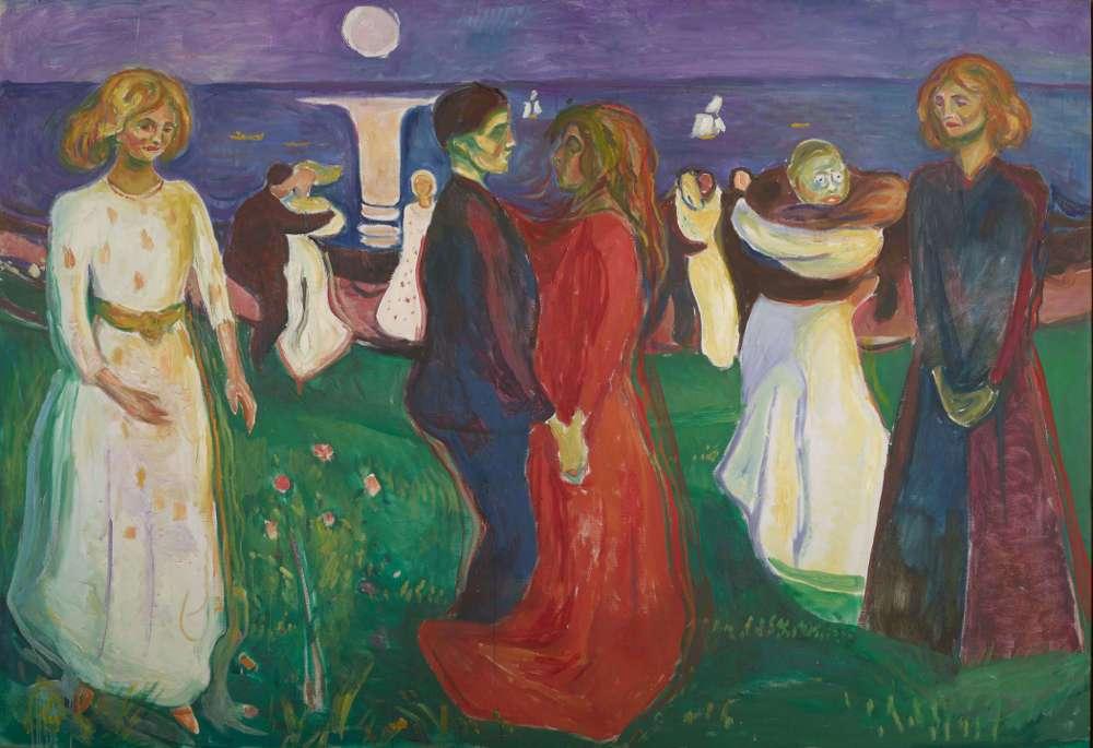 Edvard Munch, Der Tanz des Lebens, 1925, Öl auf Leinwand, 143 × 208 cm (Foto: courtesy Munch Museum, Oslo)