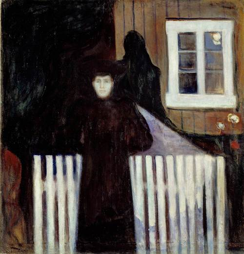 Edvard Munch, Mondlicht, 1893, Öl auf Leinwand, 140,5 × 135 cm (The National Museum of Art, Architecture and Design, Oslo)