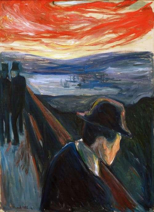 Edvard Much, Verzweiflung, 1892, Öl auf Leinwand, 92 × 67 cm (Thielska Galleriet, Stockholm)