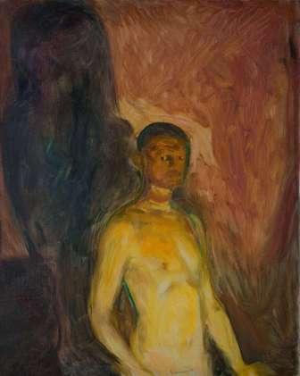Edvard Munch, Selbstporträt in der Hölle, 1903, Öl auf Leinwand, 82 × 66 cm (Foto: courtesy Munch Museum, Oslo)