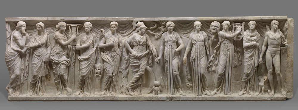 Musensarkophag, 180–200 n. Chr. Mittlere Kaiserzeit (Kunsthistorisches Museum, Wien, Antikensammlung, © KHM-Museumsverband)