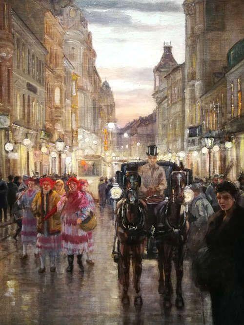 Nasta Rojc, IlicaStraße, Detail, 1910 (Museum der Stadt Zagreb), Foto: Alexandra Matzner, ARTinWORDS.