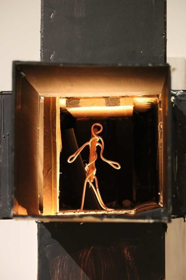 Bruce Nauman, Model for Room with My Soul Left Out, Room That Does Not Care, 1984, Detail, Foto: Alexandra Matzner.