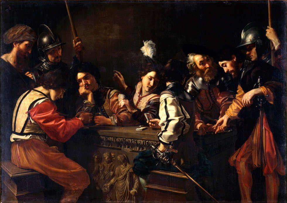 Nicolas Tournier, Die Wachstube, um 1620/25, Öl/Lw (© Gemäldegalerie Alte Meister, Staatliche Kunstsammlungen Dresden, Foto: Estel/Klut)