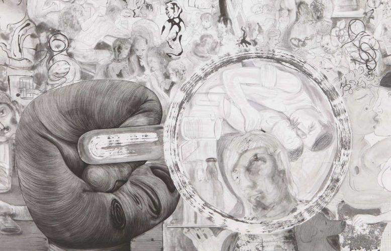 Nicole Eisenman, Beer Garden, Detail, 2012-2017, Radierung, 113,03 x 132 cm (Courtesy the artist)