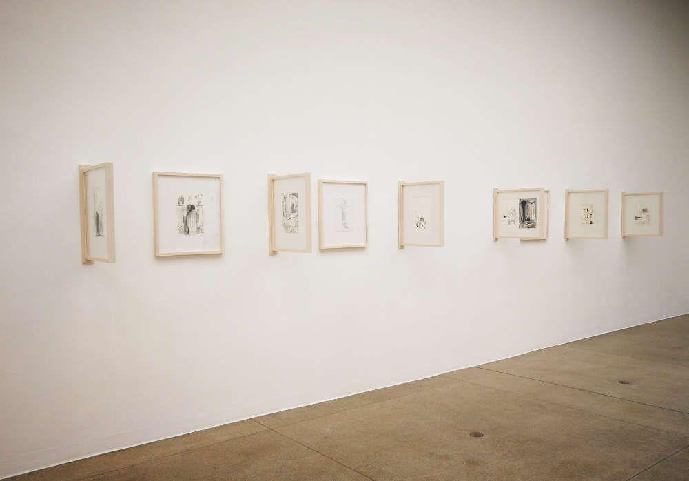 Nicole Eisenman, Zeichnungen, Installationsansicht aus der Wiener Secession September 2017, Foto: Alexandra Matzner, ARTinWORDS.