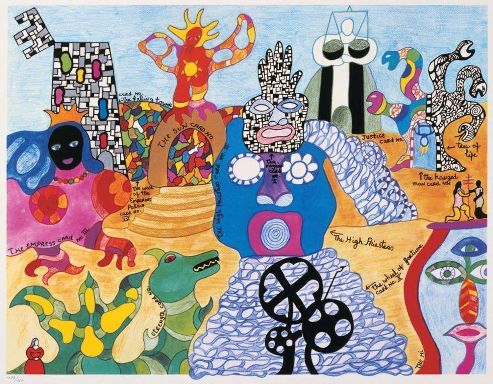 Niki de Saint Phalle, Tarot Garten, 1991, Lithografie, 60.3 x 80 cm © 2019 NIKI CHARITABLE ART FOUNDATION. Foto: Ed Kessler