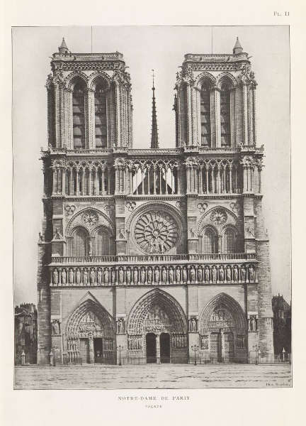 François Sylvain, Notre-Dame de Paris, Fassade, Platte II, aus: Die Fassade von Notre-Dame de Paris, Paris 1905/06.