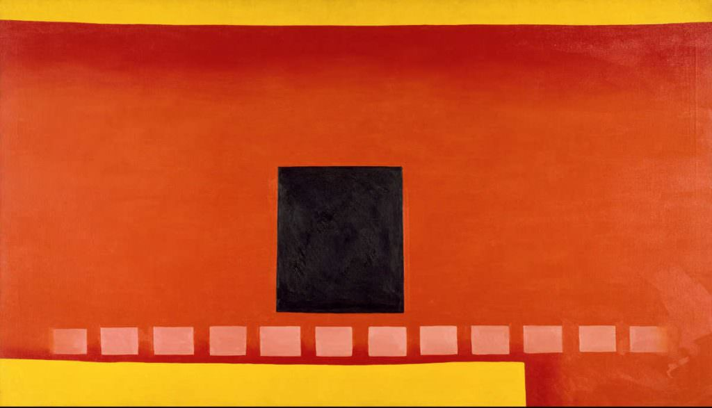 Georgia O'Keeffe Black door with Red, 1954 (Chrysler Museum of Art, Norfolk, VA, Bequest of Walter P. Chrysler, Jr. © 2016 Georgia O'Keeffe Museum/Bildrecht, Wien)