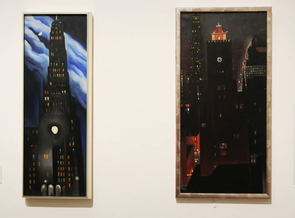 O'Keeffe, New York, Installationsansicht Bank Austria Kunstforum 2016, Foto: Alexandra Matzner (c) Bildrecht 2016.