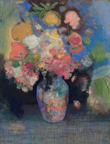 Odilon Redon, Blumen, Pastell, 62 x 47.7 cm (Privatsammlung)