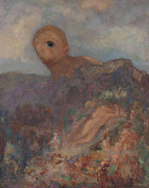 Odilon Redon, Le cyclope [Der Zyklop], um 1914, Öl auf Karton auf Holz, 65,8 x 52,7 cm (Coll. Kröller-Müller Museum, Otterlo)