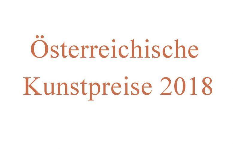 Österreichische Kunstpreise 2018