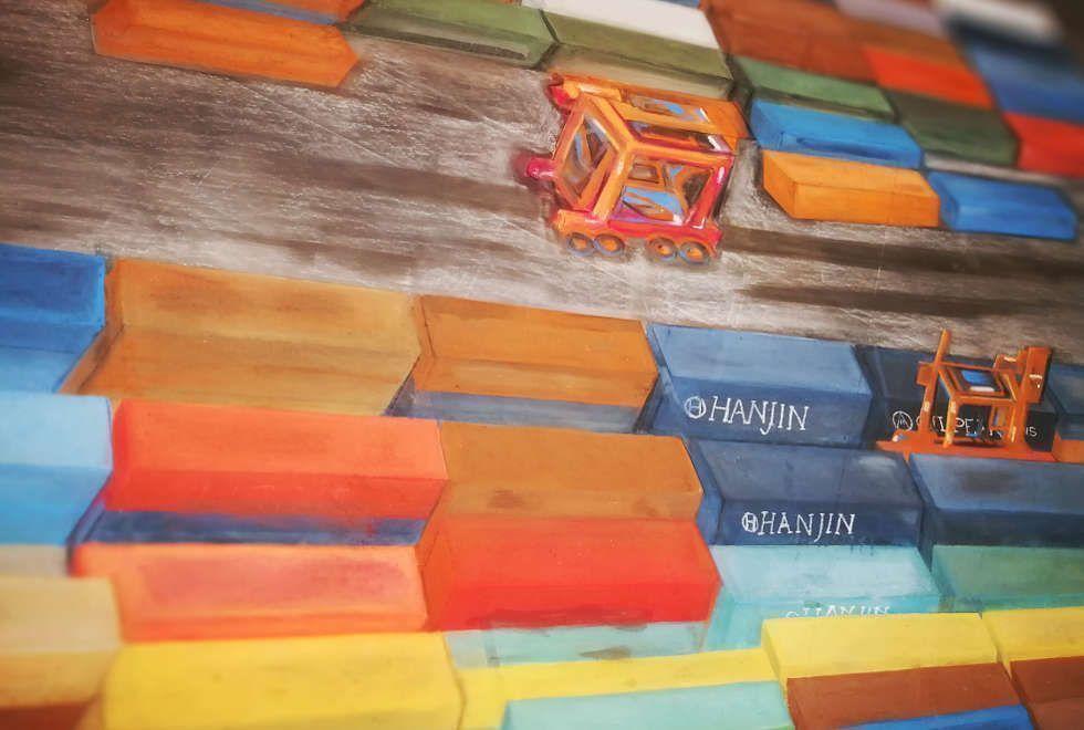 Olaf Nicolai, Gefährliche Container, Kunsthalle Wien, 2018, Ausstellungsansicht Kunsthalle Wien © Olaf Nicolai, Foto: Alexandra Matzner, ARTinWORDS