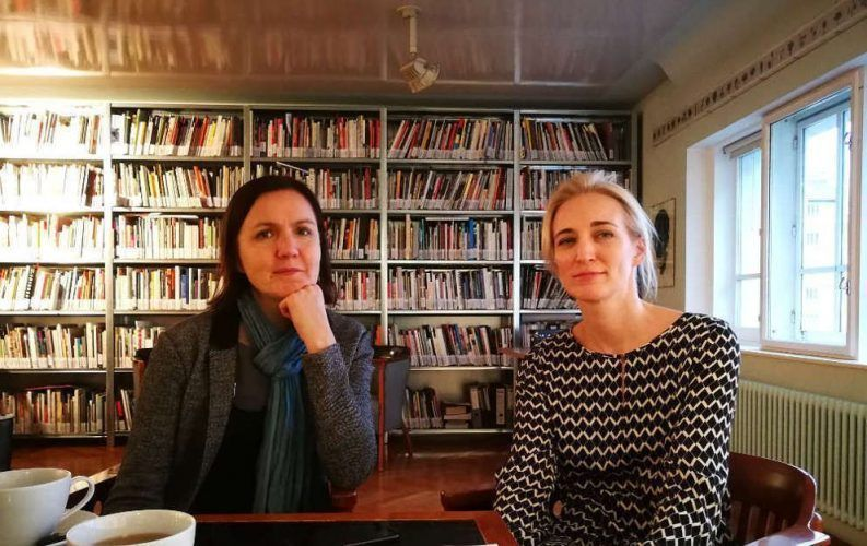 Olga Chernysheva und Elsy Lahner in der Wiener Secession, November 2017, Foto: Alexandra Matzner, ARTinWORDS.