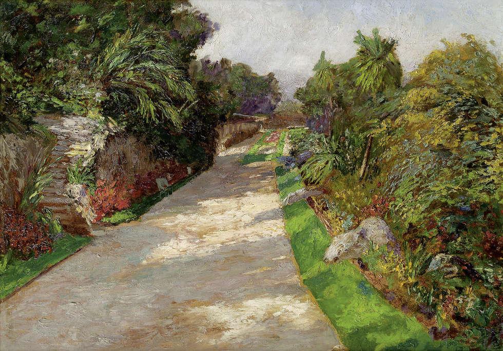 Olga Wisinger-Florian, Côte d'Azur, Rosengarten, um 1902 (© Privatbesitz Foto Auktionshaus im Kinsky, Wien)