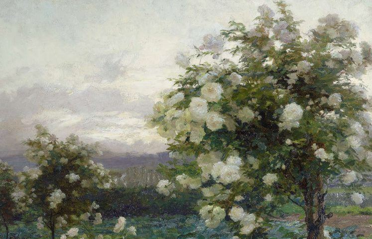 Olga Wisinger-Florian, Sommerabend, Detail, 1896 (© Leopold Privatsammlung Foto Leopold Museum, Wien Manfred Thumberger)