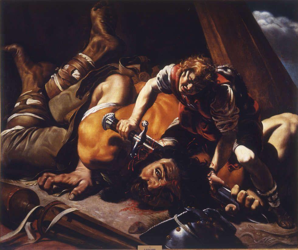 Orazio Borgianni, David und Goliath, 1609–1610, Öl/Lw, 119 x 143 cm (Museo de la Real Academia de Bellas Artes de San Fernando. Madrid Photo © Museo de la Real Academia de Bellas Artes de San Fernando)