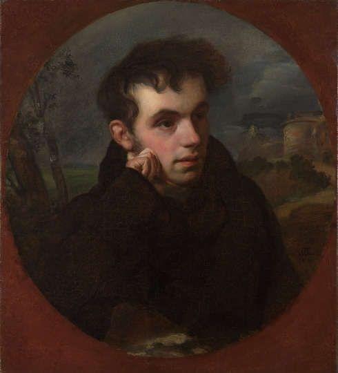 Orest Adamowitsch Kiprenski, Bildnis von V.A. Schukowsky, 1816, Öl auf Leinwand (© Staatliche Tretjakow-Galerie)