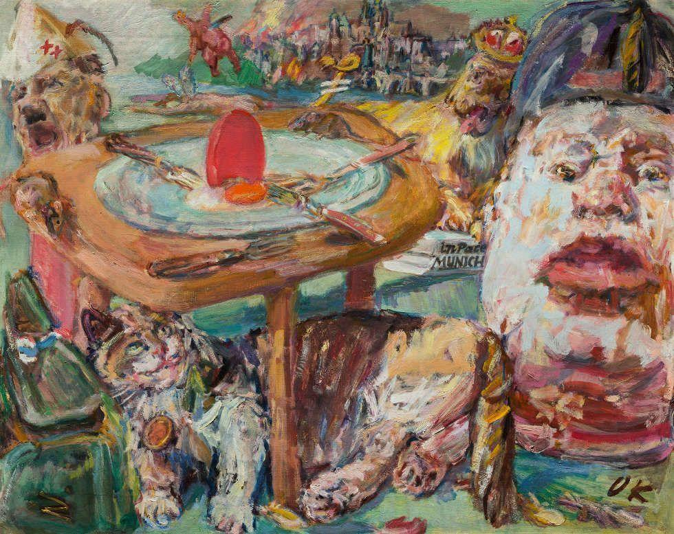Oskar Kokoschka, Das rote Ei, 1940–1941, Öl/Lw, 61 x 76 cm (National Gallery in Prague, © Fondation Oskar Kokoschka, Vevey / 2017 ProLitteris, Zürich)