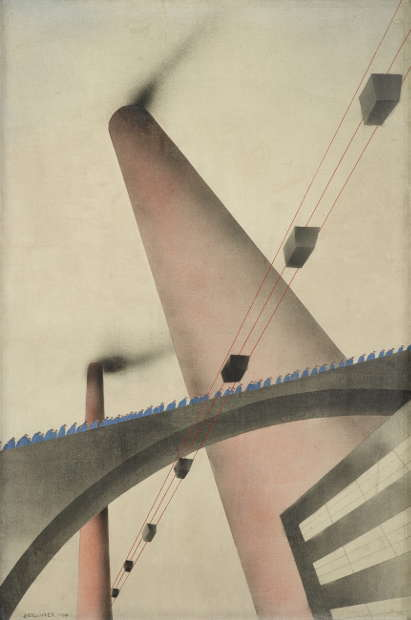 Oskar Nerlinger, An die Arbeit, 1930 (Kulturstiftung Sachsen-Anhalt, Kunstmuseum Moritzburg Halle (Saale) © S. Nerlinger, Foto: Punctum/Bertram Kober)