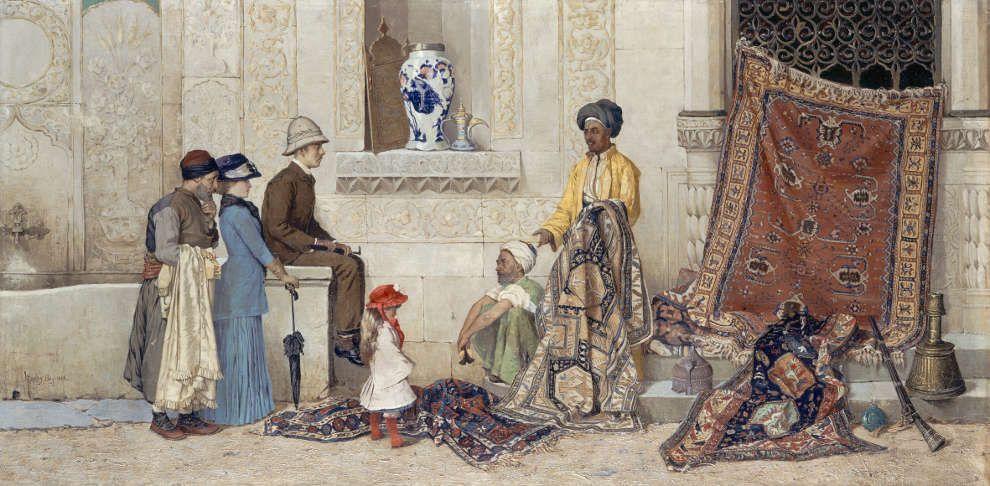 Osman Hamdy Bey, Türkische Straßenszene, 1888, © Nationalgalerie – Staatliche Museen zu Berlin / Andres Kilger