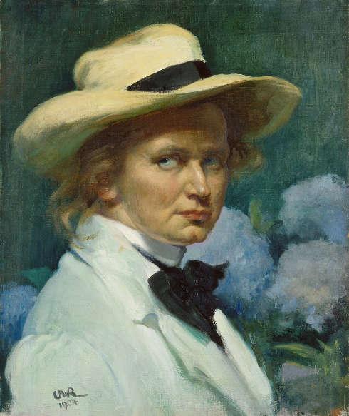 Ottilie W. Roederstein, Selbstbildnis mit weißem Hut, 1904, Öl/Lw, 55,3 × 46,1 cm (Städel Museum, Frankfurt am Main, Foto: Städel Museum)