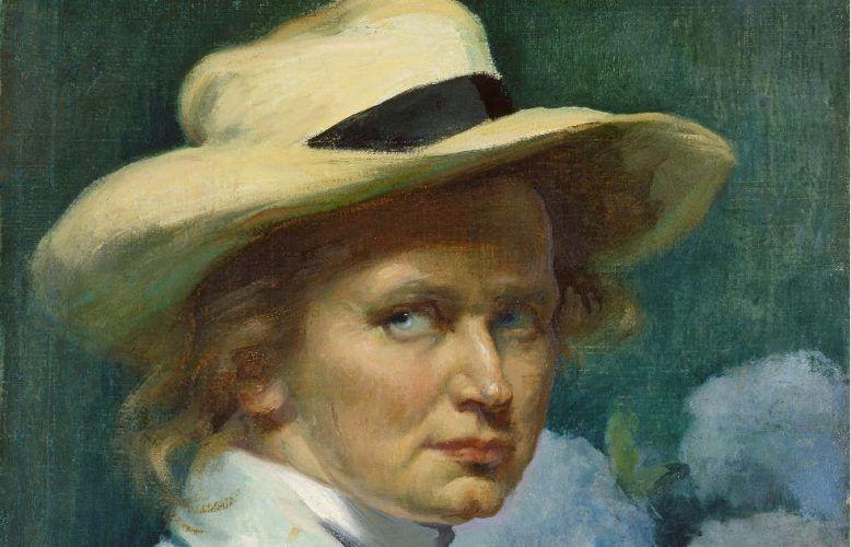 Ottilie W. Roederstein, Selbstbildnis mit weißem Hut, Detail, 1904, Öl/Lw, 55,3 × 46,1 cm (Städel Museum, Frankfurt am Main, Foto: Städel Museum)