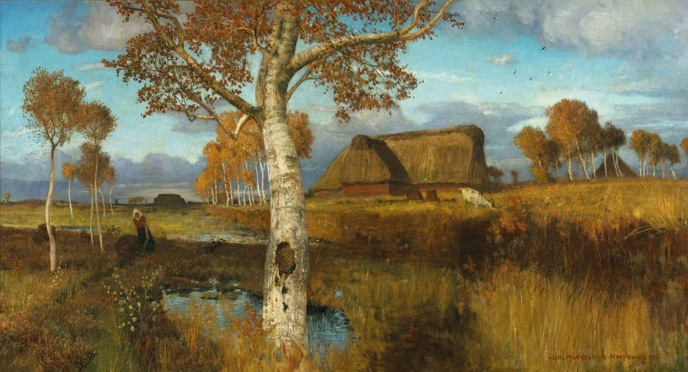 Otto Modersohn, Herbst im Moor, 1895, Öl auf Leinwand, 80 x 150 cm (Kunsthalle Bremen – Der Kunstverein in Bremen)