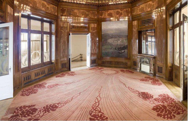 Otto Wagner, Hofpavillon, Wartesalon mit Wien-Ansicht von Carl Moll (c) Foto Thomas Ledl