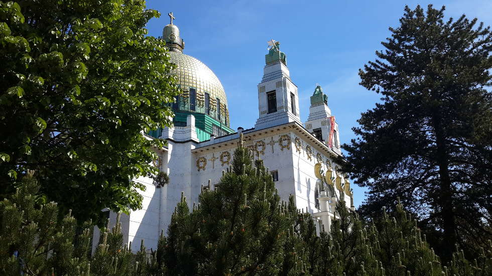 Otto Wagner, Kirche am Steinhof, 1905–1907, Blick auf die Kuppel, Foto: Alexandra Matzner, ARTinWORDS.