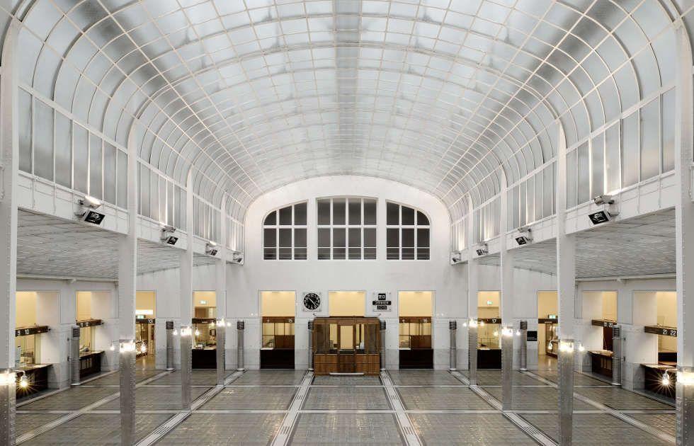 Otto Wagner, K. k. Österreichische Postsparkasse, Großer Kassensaal, Detail (© Hagen Stier, 2015)