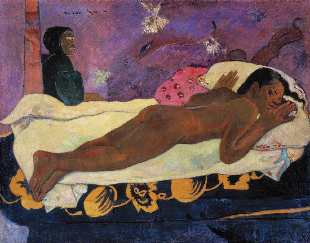 Paul Gauguin, Manaò tupapaú (Geist der Toten wachen), 1892 (Collection Albright-Knox Art Gallery, Buffalo, New York; A. Conger Goodyear Collection, 1965, 1965:1. Photograph by Tom Loonan)