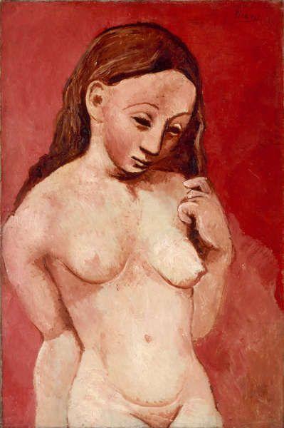 Pablo Picasso, Akt auf rotem Grund, Paris 1906, Öl/Lw, 81 x 54 cm (Musée de l'Orangerie)
