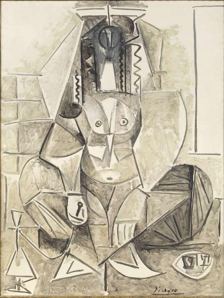 Pablo Picasso, Die Frauen von Algier (Version L), 1955, Öl auf Leinwand (© Staatliche Museen zu Berlin, Nationalgalerie / Jens Ziehe, © VG Bild-Kunst, Bonn 2019)