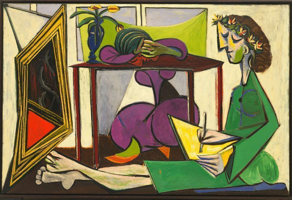 Pablo Picasso, Interior mit einem zeichnenden Mädchen, 1935, Öl auf Leinwand (The Museum of Modern Art, New York 969.1979)
