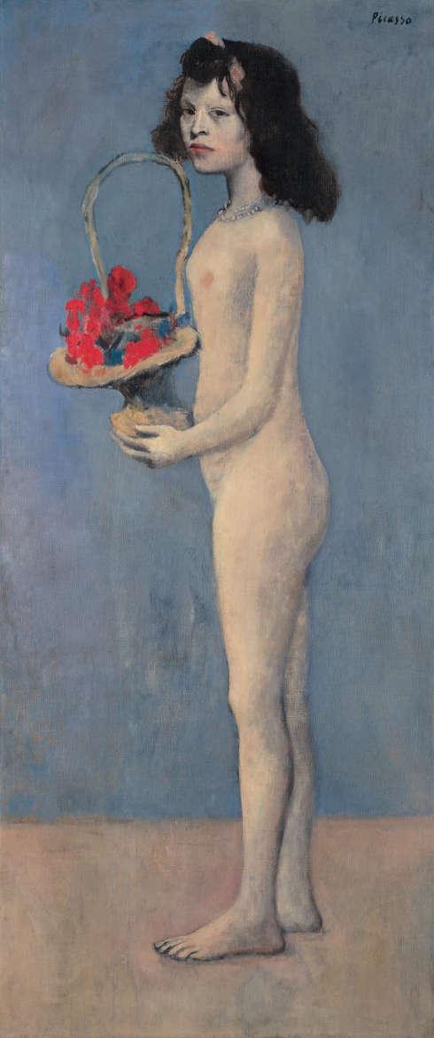 Pablo Picasso, Mädchen mit Blumenkorb, 1905, 154,6 x 66,1 cm (Privatsammlung)