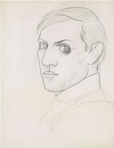 Pablo Picasso, Selbstporträt, 1918, Bleistift und Kohle auf Papier, 64.2 x 49.4 cm (Musée national Picasso-Paris, Pablo Picasso gift in lieu, 1979, MP794. Photo © RMN-Grand Palais (Musée national Picasso-Paris) / Mathieu Rabeau. © Estate of Pablo Picasso / Artists Rights Society (ARS), New York)