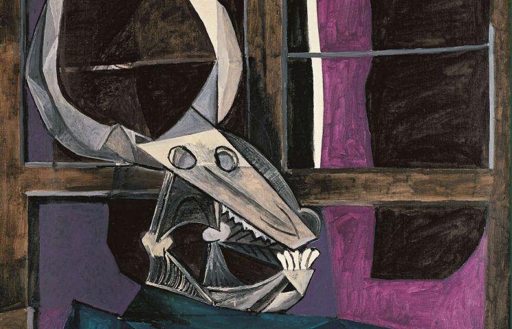 Pablo Picasso, Stillleben mit Stierschädel, Detail, 1942 (Kunstsammlung Nordrhein-Westfalen, Düsseldorf, © Succession Picasso / VG Bild-Kunst, Bonn, 2019, Foto: Walter Klein, Düsseldorf)