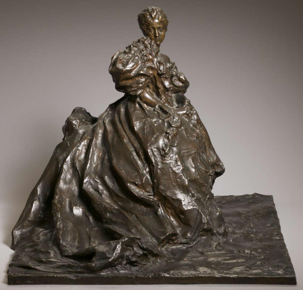 Paolo Troubetzkoy, Adelaide Aurnheimer (Nach dem Ball), 1897, Bronze, 43 × 52 cm (Privatbesitz)