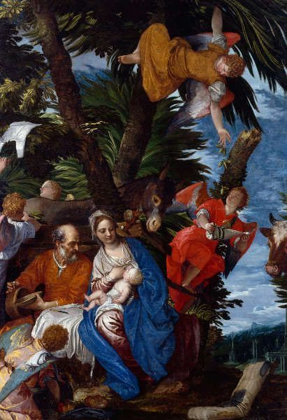 Paolo Veronese, Ruhe auf der Flucht nach Ägypten, um 1572, Öl auf Leinwand, 236,2 x 161,3 cm (Bequest of John Ringling, 1936, © Collection of The John and Mable Ringling Museum of Art, Sarasota, FL, the State Art Museum of Florida, Florida State University)