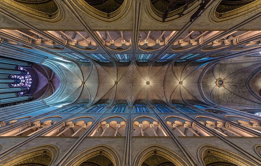 Paris, Notre-Dame, Langhaus, Gewölbe