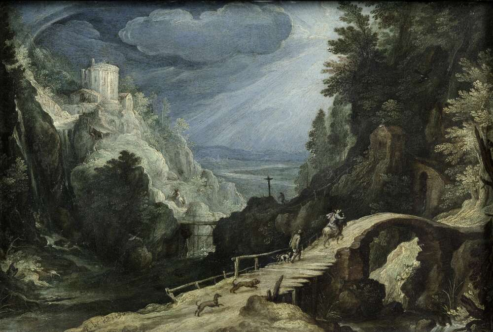 Paul Bril, Gebirgslandschaft, um 1595, Öl auf Kupfer, Wallraf-Richartz-Museum & Fondation Corboud)