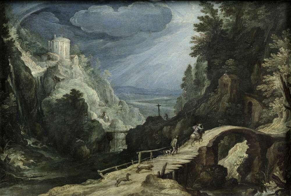 Paul Bril, Gebirgslandschaft, um 1595, Öl auf Kupfer, Wallraf-Richartz-Museum & Fondation Corboud)